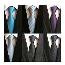 6 PCS Classic Men's Tie Necktie Silk Woven For Mens Weding Silk Neck Ties NEW