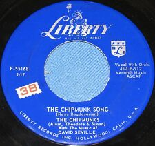 THE CHIPMUNKS SONG+ ALMOST GOOD (THE MUSIC OF DAVID SEVILLE)---LIBERTY F-55168