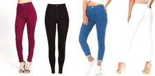 NEW WOMEN HIGH WAIST SKINNY JEANS RIPPED LADIES JEGGING KNEE 6 8 10 12 14