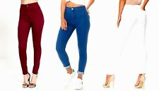 New Womens Ladies Celeb Stretch Ripped Skinny High Waist Denim Pants Jeans 6-14!