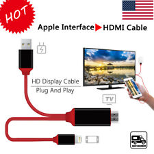 NEW 1080P 2M 8 Pin Apple Interface to HDMI TV AV Adapter Cable For iPad Air 2 US