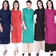 Bollywood Women Indian Cotton Pintex Kurti Kurta Top Tunic Casual Ethnic D3774