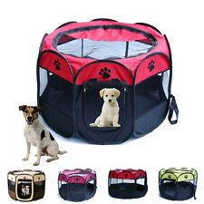 Quality Pet Tent Folding Fence Playpen Kennel Puppy Dog Cage Exercise Soft Crate