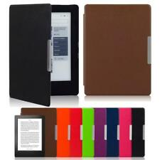 New Magnetic Auto Sleep Leather Cover Case For KOBO AURA H2O eReader+Touch Pen