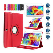 360° Samsung Galaxy Tablet Leather Case Cover + Screen Protector Tab E A S  Lot