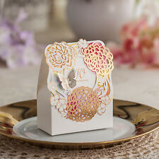1-100X Wedding Favours Sweets Candy Gift Boxes Table Decoration - Luxury Flowers
