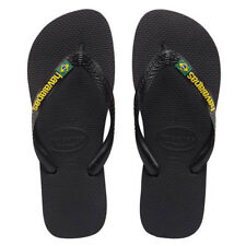 Havaianas Brazil Flag Thongs in Black