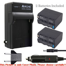 Batery(2) and Charger for Sony NP-F970 NP-F960 NP-F950 & Sony HDR-FX1000 HDR-FX7