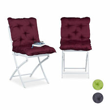 Seat Cushions Set of 2, Pillow Backrest, Garden Chair Pads, Multicoloured