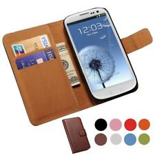 Genuine Leather Case For Samsung Galaxy S3 i9300 SIII Wallet Style Flip Style Ph