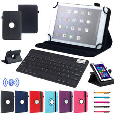 "Fr Acer 7"" 10.1"" Tablet Bluetooth Keyboard Universal 360° Rotating Leather Cover"