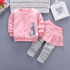 Fashion Autumn Baby Girls Clothes Set Infant Girl Cotton Long Sleeves Clothing