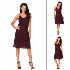Women Midi Dresses Backless Deep V Neck Check Fitted Waist Party Dress Cocktail