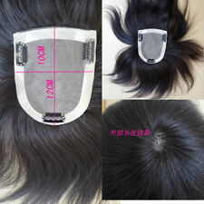 "Base 4''x4.7"" Womens Human Hair Topper Hairpiece Toupee Hair Extension 6''~16''"