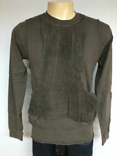 New Men slab by Rick Owens   Dk Shadow gray leather sweater shirt vintage
