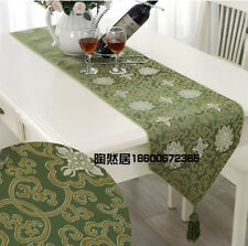 Brand New Noble Chinese Handmade Classic Silk Table Runner Cloth Bed Flag