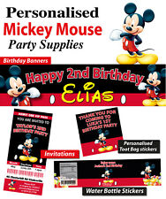 Personalised Mickey Mouse Birthday Party Banner Decorations