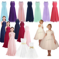 Flower Girls Princess Tutu Dress Birthday Pageant Kids Wedding Party Formal Gown
