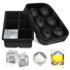 Ice Cube Ice Ball Maker Ice Chest Crystal Maker Sphere Round & Square Ice Cube