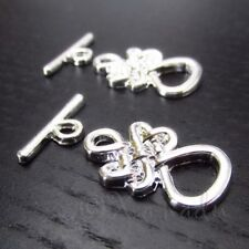 Celtic Knot Toggle Clasp Silver Plated Findings F9188 - 1, 2 Or 5 Sets