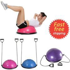 Premium Yoga Balance Half Ball Trainer w/ Resistance Bands Fitness Core Strength
