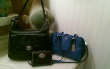 3 Lot Preloved Coach Pebbled Leather Penelope + Mini Nolita Bag + Coach Wallet!