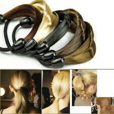 Women's Fashion Korean Style Wig Plaits Ponytail Holder Rubber Hair Band Tie New