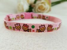 """Cutie Pie Pink Dog/ Puppy/Chihuahua/Yorkie  Collar. Sizes 6-8"""" or 8-10"""""""