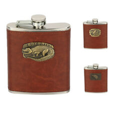 Baoblaze 8oz Brown Leather Cover FLASK Stainless Steel Hip Pocket Flask Pick