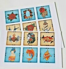 15-45 STICKERS SCRAPBOOKING CRAFT CARDMAKING EMBELLISHMENTS VINTAGE TATTOO