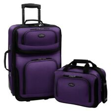 Purple Luggage Travel Set Expandable Carry On Suitcase Trolley Suitcase Lock