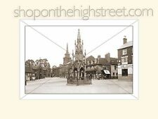 Burton Memorial & Market Sq, Daventry Restored Print in Mount from Orig P'Card