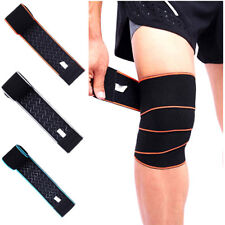Compression Knee Wraps Support Training Gym Weightlifting Fitness Men Women QL