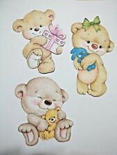 3D-U Pick- NEW 9-17 Baby Girl Boy Birth Bear Verse Scrapbook Card Embellishment