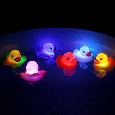 1PC New Shower Toy Light  Solid Color LED Cute Floating Duck Flashing Bath Tub