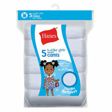 Hanes Ultimate TAGLESS Cotton Stretch Toddler Girls' Cami White 5-Pack