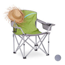 Folding Camping Chair, Camping and Fishing Seat w/ Cup Holder and Backrest