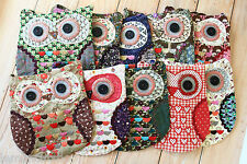 Ditsy Floral OWL Shoulder Bag shabby chic pretty girls makeup phone travel pouch