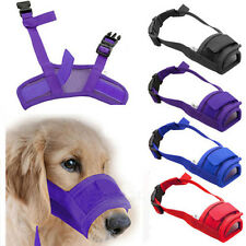 Pet Dog Adjustable Mask Bark Bite Mesh Mouth Muzzle Grooming Anti Stop ChewingSB