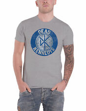 Dead Kennedys T Shirt Vintage Distressed Circle Band Logo Official Mens New Grey
