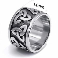 Men Womens Stainless Steel Silver Plated Solid Color Ring Size 7, 8,9,10,11,12,1