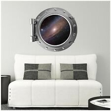 Milky Way Galaxy 1 Porthole Window Wall Decal Graphic Sticker Space Port Scape