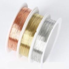 1 Roll 2-20M 0.2-1.0mm Solid Color Beading Cord DIY Copper Wire Jewelry Making