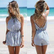 Womens Clubwear Summer Beach Playsuit Bodycon Party Jumpsuit Romper Trousers