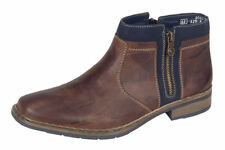 RIEKER 30853-25 Mens Brown double zipped Boot RRP £59.99