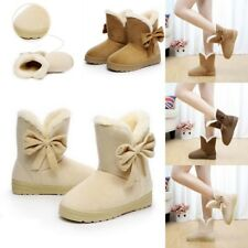 Womens Ankle Snow Boots Winter Low Mid Block Heel Casual Work Chelsea Shoes Size