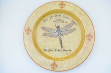 "Shelley Hely Plate Garden Insects Dragonfly Ladybug Butterfly Decor 10.25"" Rare"