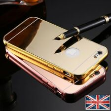 Luxury Aluminum Ultra-thin Mirror Metal Case Cover for iPhone SE 5S 6S 6 plus
