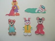 3D-U Pick - BE3 Sleepover Bear Cat Bunny Mouse  Scrapbook Card  Embellishment
