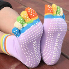 Colorful Professional Yoga Socks Fitness Cotton Toe Socks Pilates Sock Non-slip